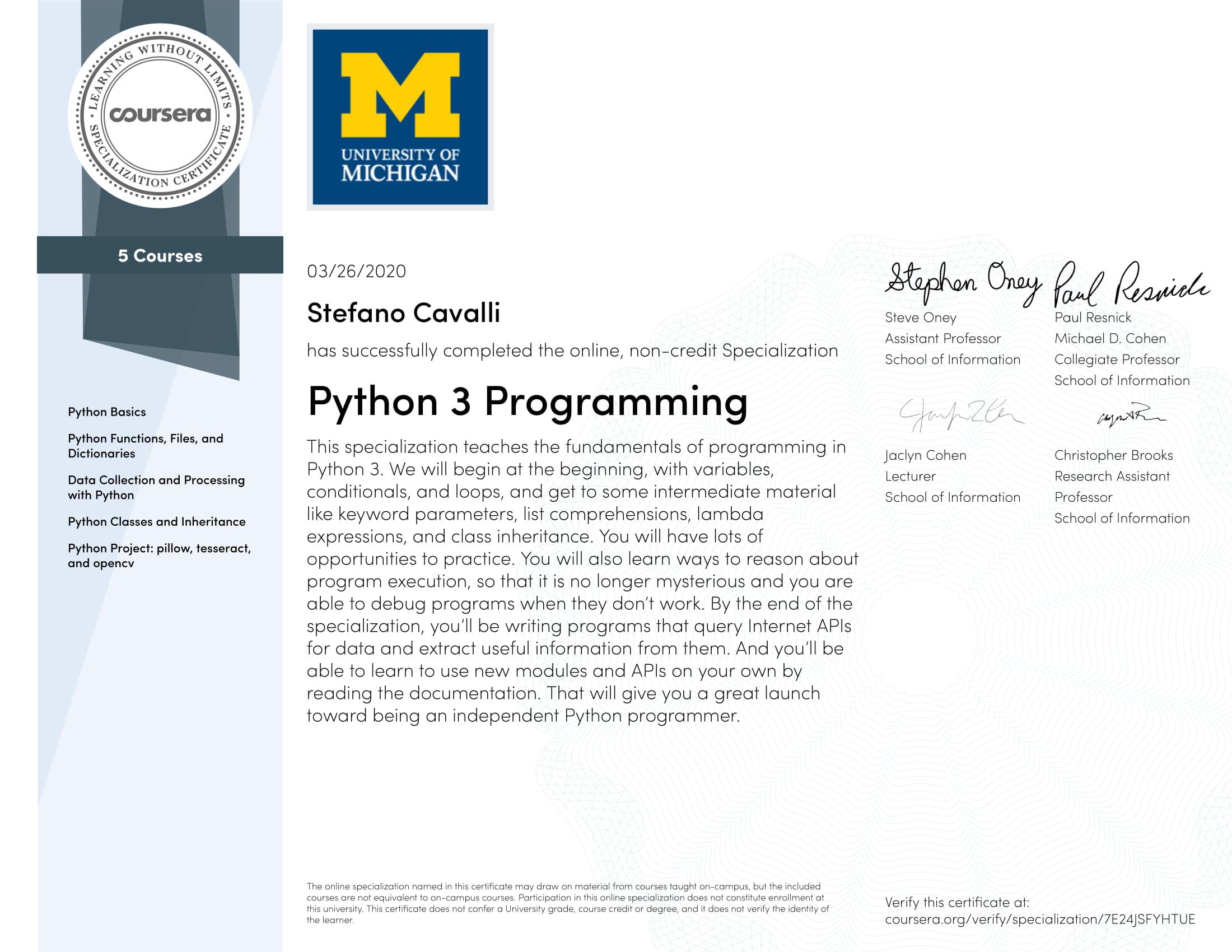 Final - Python 3 Programming